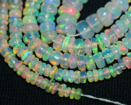 28.90 CRT GORGEOUS OPAL BEADS STRANDS MULTICOLOR WELO OPAL-