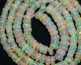 30.25 CRT GORGEOUS OPAL BEADS STRANDS MULTICOLOR WELO OPAL-