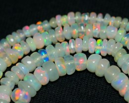 32.25 CRT GORGEOUS OPAL BEADS STRANDS PLAY COLOR WELO OPAL-