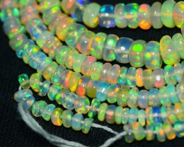 25.65 CRT GORGEOUS OPAL BEADS STRANDS PLAY MULTICOLOR WELO OPAL-