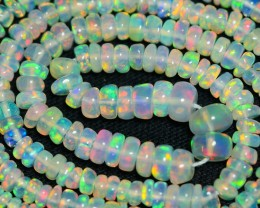 24.60 CRT GORGEOUS OPAL BEADS STRANDS PLAY MULTICOLOR WELO OPAL-