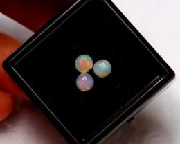 0.74ct 4.4mm calibrated Ethiopian Welo Opal Lot