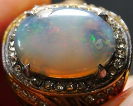 69.15 CT UNTREATED Indonesian Crystal Opal Ring Jewelry