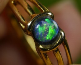 13.25 CT Amazing Broad Stripe Indonesian Crystal Opal Ring