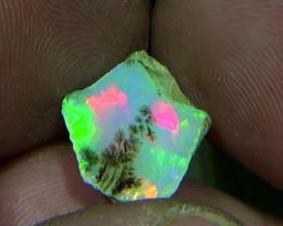 6.50 cts Ethiopian Welo CHAFF dendritic opal N7 4,5/5