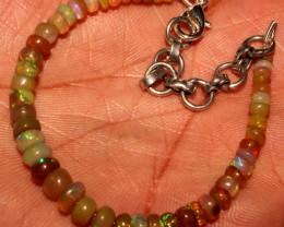 23 Crt Natural Ethiopian Welo Fire Yellow Opal Beads Bracelet 10