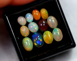 5.30ct Mix Size Oval Ethiopian Welo Solid Opal Lot