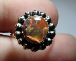 6.5sz MEXICAN MATRIX OPAL HIGH QUALITY .925 STERLING FABULOUS RING