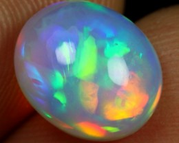 3.45cts Strong Broad Rainbow Fire Natural Ethiopian Welo Opal