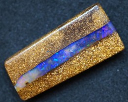 21.45CT VIEW PIPE WOOD REPLACEMENT BOULDER OPAL TT327