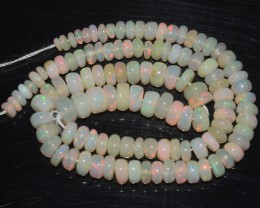 24.75 Ct Natural Ethiopian Welo Opal Beads Play Of Color