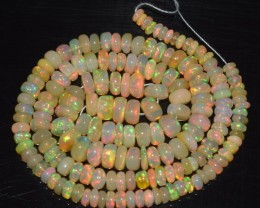 35.40 Ct Natural Ethiopian Welo Opal Beads Play Of Color