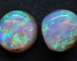 2.95CTS VIEW PIPE WOOD REPLACEMENT BOULDER OPAL (Pair)TT374