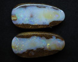 28.15CTS PIPE CRYSTAL BOULDER OPAL (pair) TT381