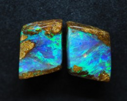 7.00CTS VIEW PIPE WOOD REPLACEMENT BOULDER OPAL (pair)  TT383