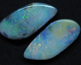43.65CTS QUEENSLAND  BOULDER OPAL  (Pair) TT389