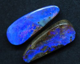 36.45CTS QUEENSLAND  BOULDER OPAL (Pair)   TT394