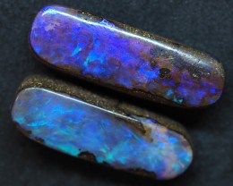 23.60CTS QUEENSLAND  BOULDER OPAL (Pair)   TT396