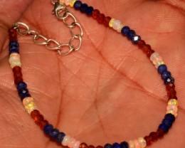Ethiopian Opal Lapis Lazuli Hassonite Garnet Beads Bracelet 24