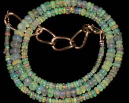 44 Crts Natural Ethiopian Welo Fire Opal Beads Necklace 1