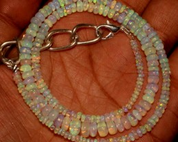 41 Crts Natural Ethiopian Welo Fire Opal Beads Necklace 3