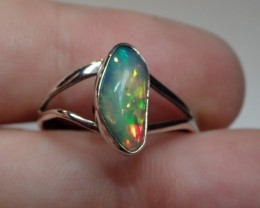 10.5sz SOLID WELO OPAL HIGH QUALITY .925 STERLING FABULOUS RING