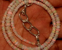 47 Crts Natural Ethiopian Welo Fire Opal Beads Necklace 6