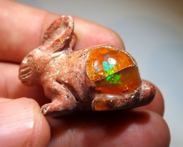 45ct Bunnie Mexican Matrix  Cantera Fire Opal