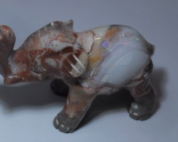 50ct Natural Mexican Matrix Cantera Figurine Elephant