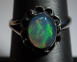 6.5sz  Ethiopian Welo Opal Sterling Silver Ring