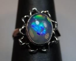 6.5sz  White Fiery Welo Opal Sterling