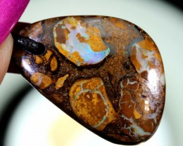 21CTS BOULDER OPAL PENDANT DRILLED NC-5743