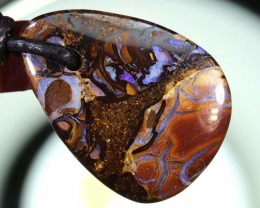 24CTS BOULDER OPAL PENDANT DRILLED NC-5744