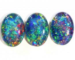 11.58Cts 3 Pcs Parcel  Top Gem Grade Triplet Opals  WS 503