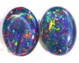 10.50Cts Pair Parcel  Top Gem Grade Triplet Opals  WS 504