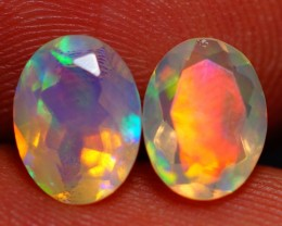 8X6MM  TOP QUALITY !!  WELO ETHIOPIAN FACETED OPAL PAIR-AE735