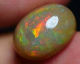 8.40 CRT GORGEOUS DARK BASE FLORAL FIRE PLAY COLOR WELO OPAL-