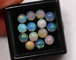 Lot14 ~ 5.20Ct Natural Ethiopian Welo Opal Lot 5.0x5.0mm