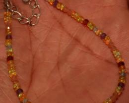 Natural Ethiopian Opal Garnet apatite sunstone Beads Bracelet 30