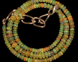 51 Crts Natural Ethiopian Welo Fire Opal Beads Necklace 9