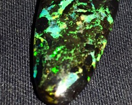 11.00 CRT BEAUTY FLORAL PLAY COLOR PATTERN INDONESIAN OPAL WOOD FOSSIL