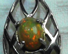 13.0 ct Stunning Modern 925 Silver Solid Welo Opal Pendant