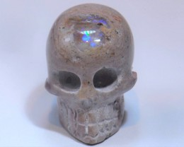 50CT SKULL BRIGHT CARVED QUALITY MEXICAN MATRIX OPAL