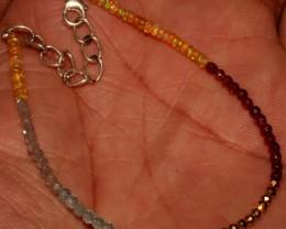 Ethiopian Opal Labradorite Apatite Pyrite Rhodolite Beads Bracelet 34