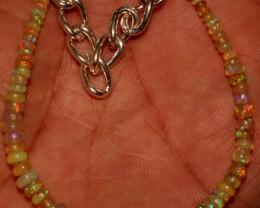 19 Crts Natural Ethiopian Welo Fire Opal Beads Bracelet 3
