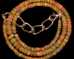 47 Crts Natural Ethiopian Welo Fire Opal Beads Necklace 13