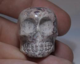 Mexican Matrix Fire Opal Skull