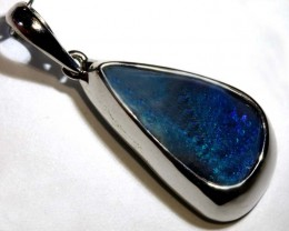 21-CTS BOULDER OPAL STERLING SILVER PENDANT OF-2458