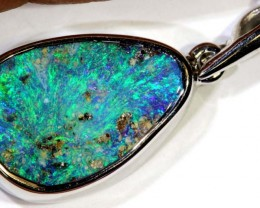 15.50-CTS BOULDER OPAL STERLING SILVER PENDANT OF-2462