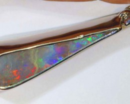 14.40-CTS BOULDER OPAL STERLING SILVER PENDANT OF-2469